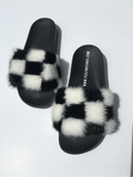 Check me out mink fur slides - Feeling Fanci