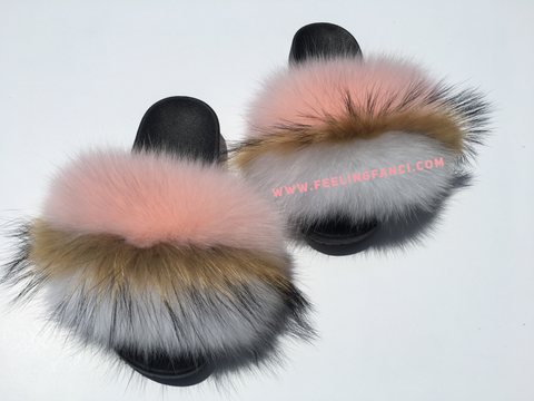 Rose pynk fox furslides - Feeling Fanci