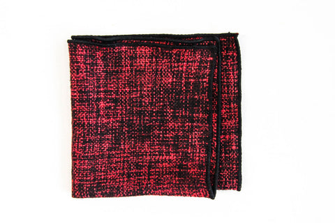 Red & Black Wool | Pocket Square