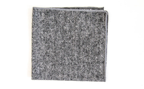 Gray Wool Pocket Square