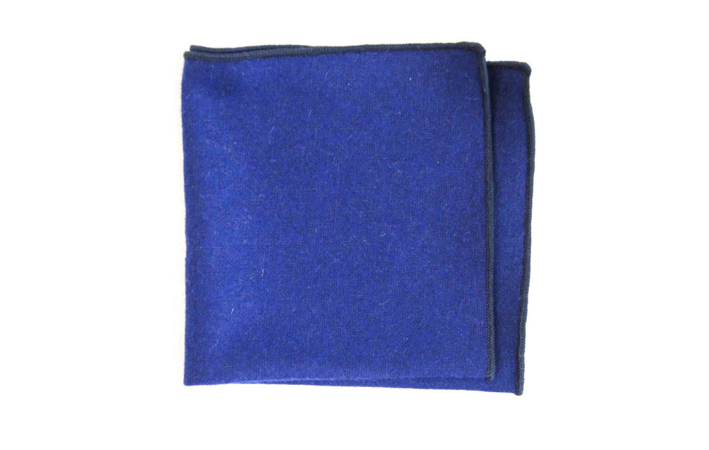 Navy Blue Wool | Pocket Square