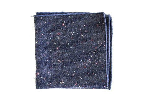 Blue Multi-Color Pocket Square