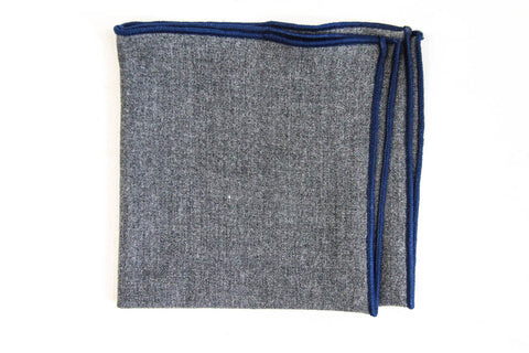 Gray & Blue Pocket Square