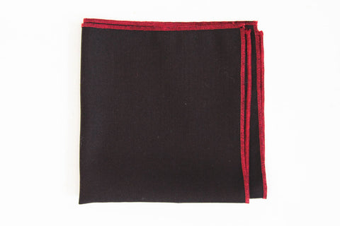 Brown - Red Pocket Square