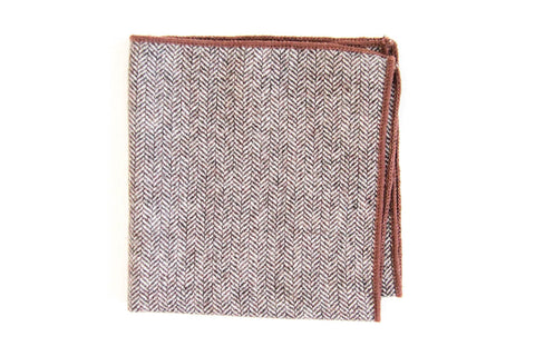 Brown Wool | Pocket Square