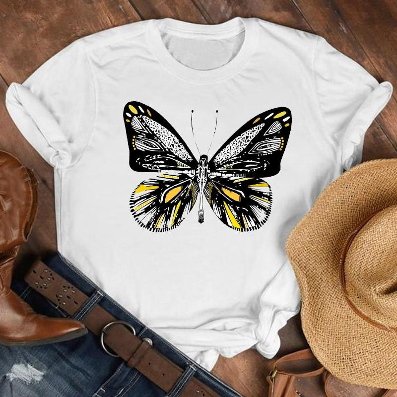 90s Butterfly Print Plus Size T-Shirt