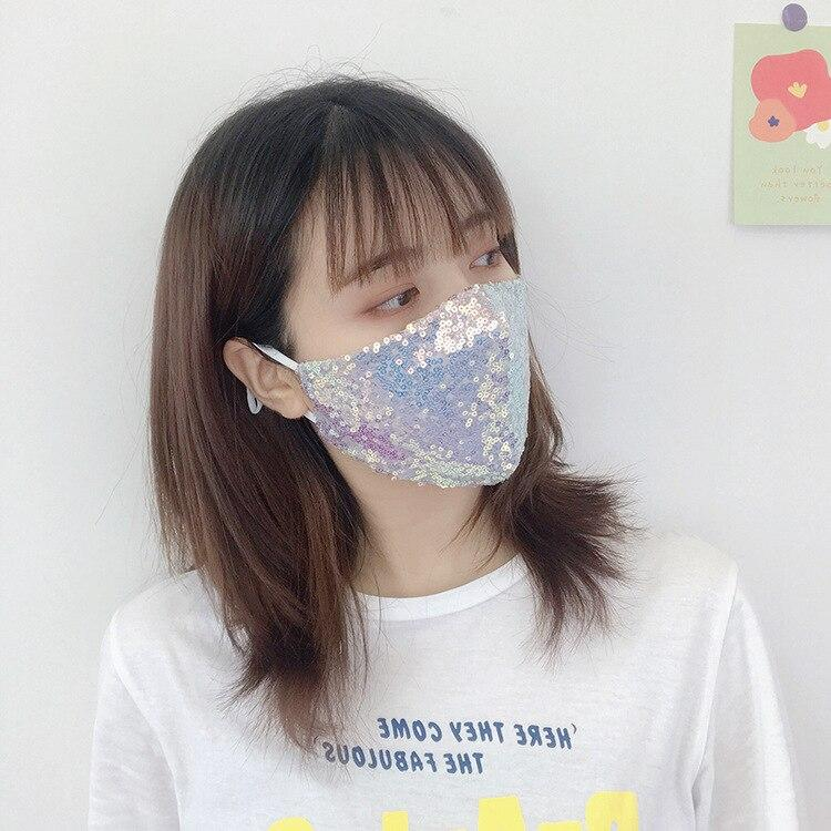 Sequin Face Mask - Adjustable Reusable Face Mask