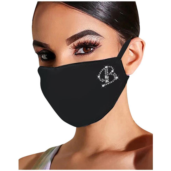 Reusable Sequin Face Mask - Initial Letter Face Mask