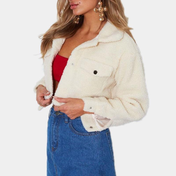 Cropped Teddy Bear Jacket
