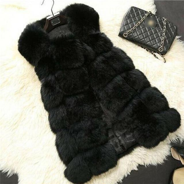 Winter Faux Fur Sleeveless Vest