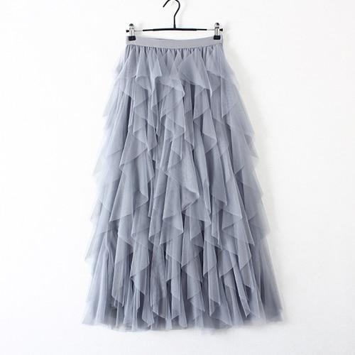 High Waist Tulle Skirt - Maxi