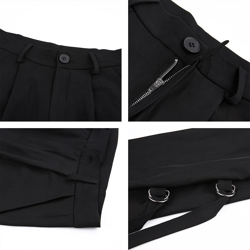Wide Leg Cargo Trousers With Side Detail