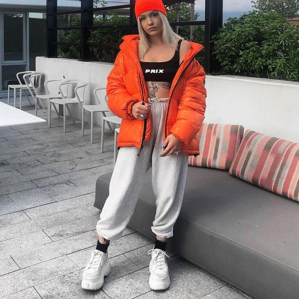Baggy Track Pants - High Waist