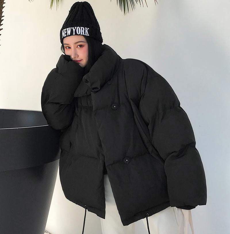 Oversized Coat Puffer Coat with Pockets