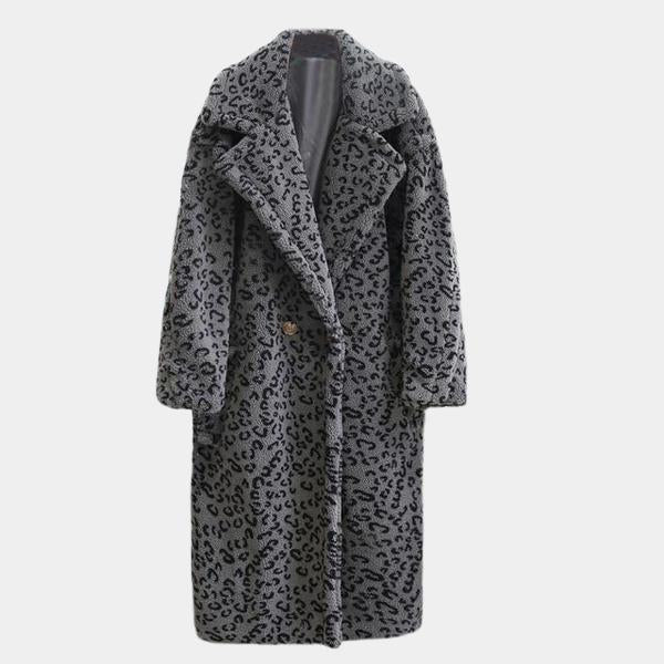 Leopard Faux Fur Teddy Coat