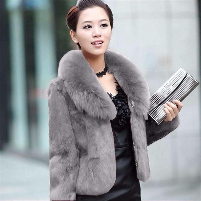 Faux Fur Coat - 5XL Plus Size