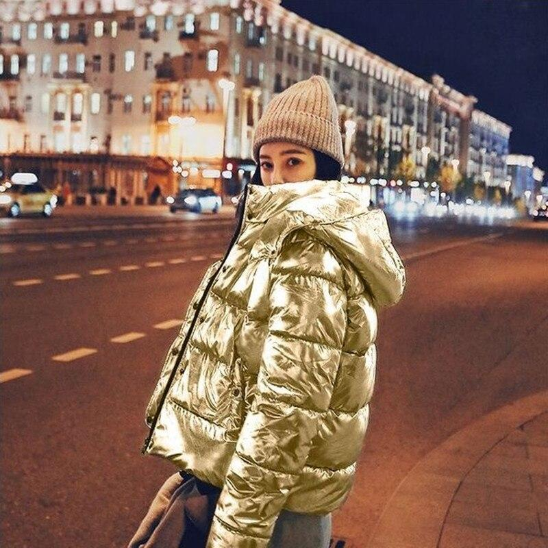 Metallic Puffer Jacket - Silver