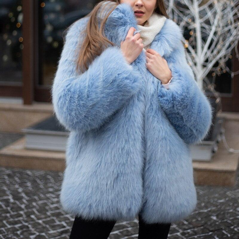 Oversized Faux Fur Coat - Winter Fluffy