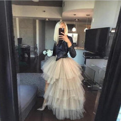 Ruffle Tiered Tulle Skirt -Maxi - Extra Puffy