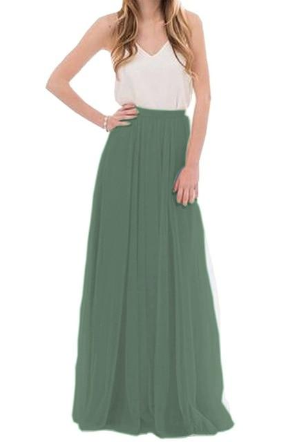 Mesh Tulle Bridesmaid Skirt - Prom Maxi Skirt