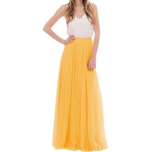 Mesh Tulle Bridesmaid Skirt - Prom Event Maxi Skirt