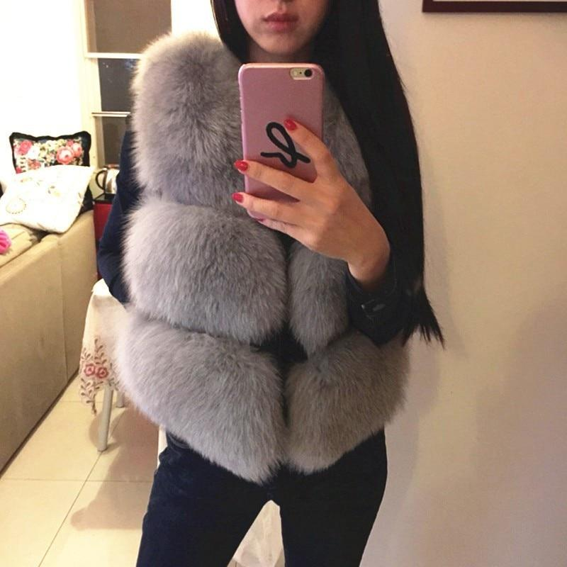 Faux Fur Gilet - Sleeveless