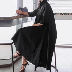 Oversized Shirt Dress - Plus Size Smock Dress