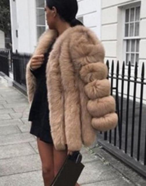 Winter Faux Fur Coat - Plus Size 5XL