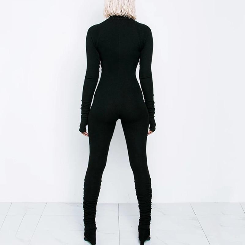 Workout Zipper Jumpsuit - Long Sleeve
