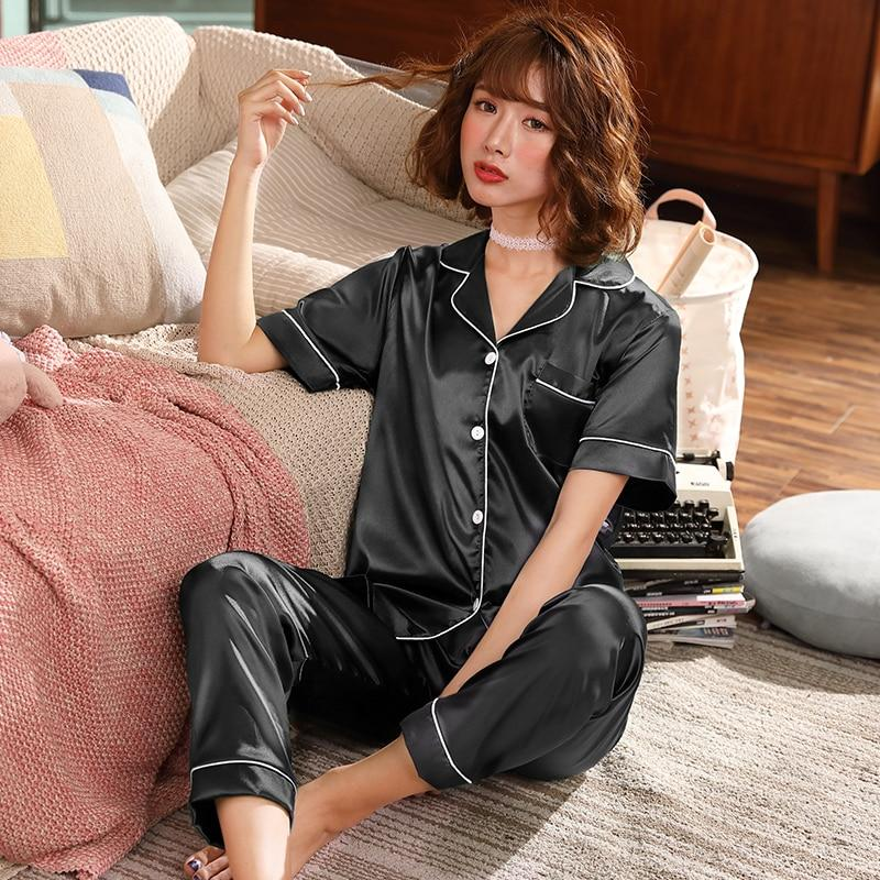 Satin Trouser Pyjama Set