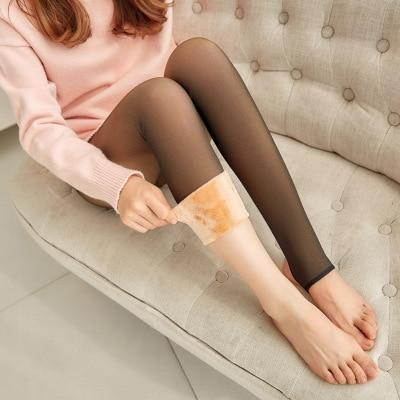 High Waist Warm Fleece Lined Leggings