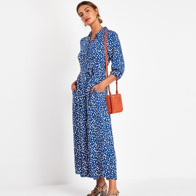 Floral Print Shirt Maxi Dress - Self Tie