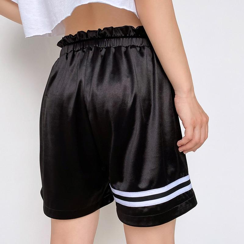 Elastic Waist Drawstring Side Stripe Shorts