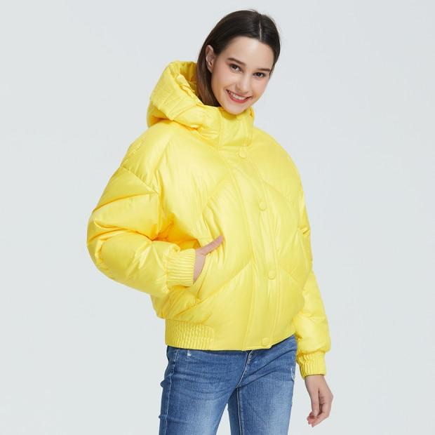 Waist Length Hooded Puffer Coat With Pockets