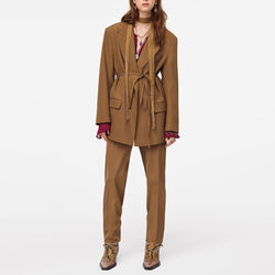 Loose Fit Office Trouser Suit With Blazer