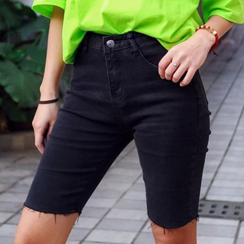 Lift & Shape Knee Length Denim Shorts