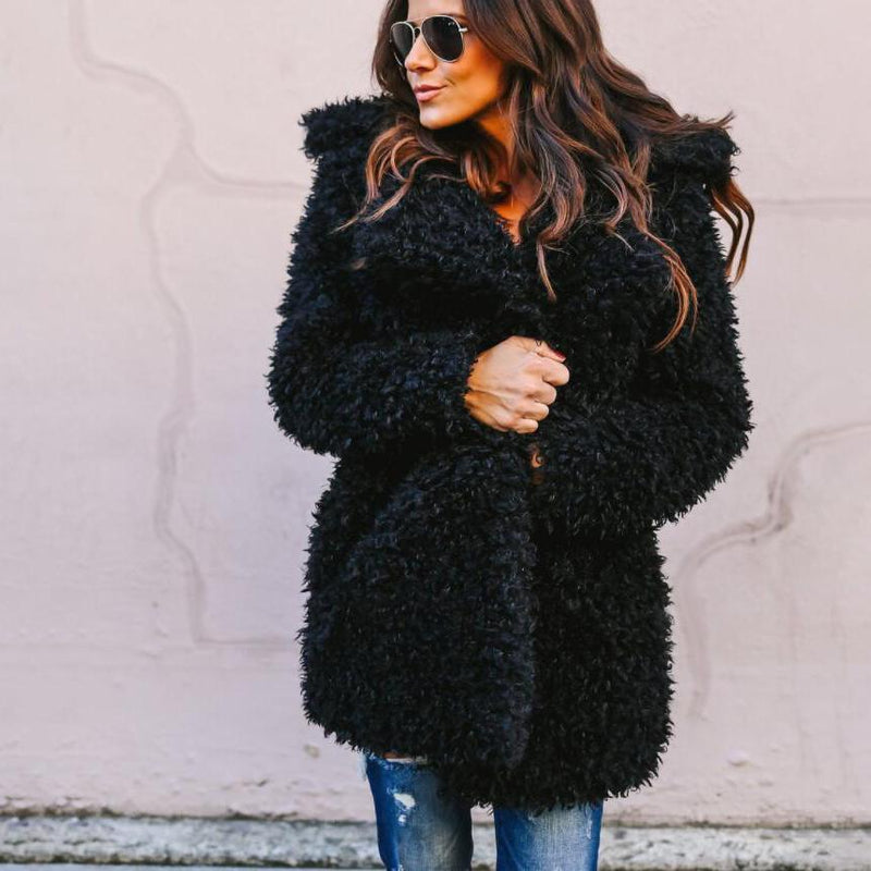 Oversized Fluffy Teddy Coat
