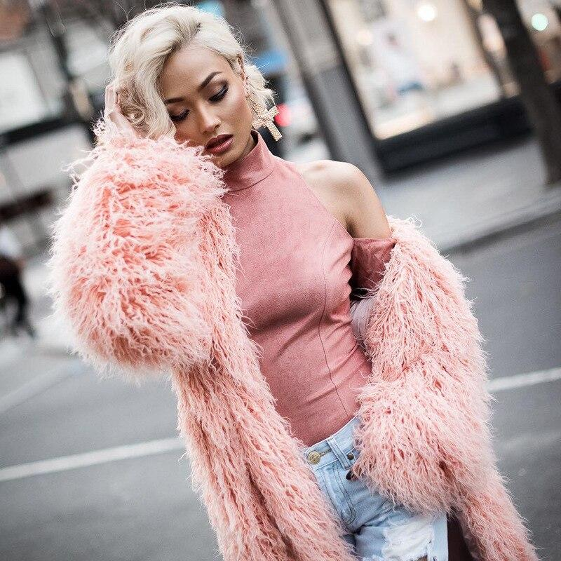 Faux Fur Long Fluffy Coat