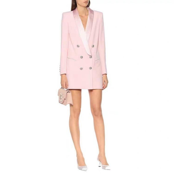 Classic Double Breasted Blazer Dress