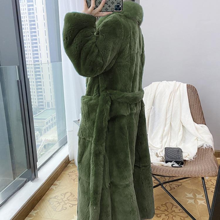 Faux Fur Thick Coat - Long Winter Belted Coat