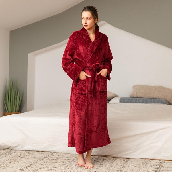 Luxury Velvet Long Dressing Gown