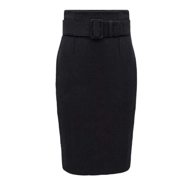 Plus Size High Waist Pencil Office Skirt