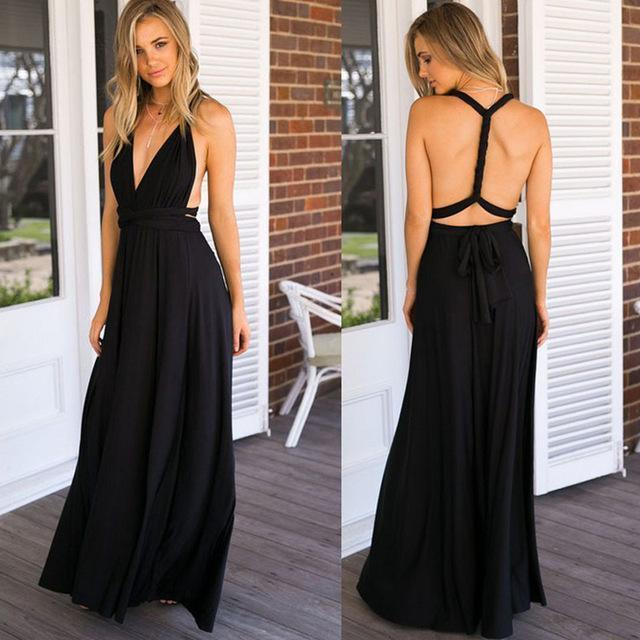 Multiway Wrap Maxi Dress dresses - Ultamodan