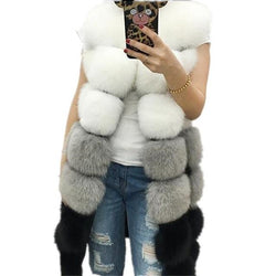Winter Faux Fur Gilet - Multicolour