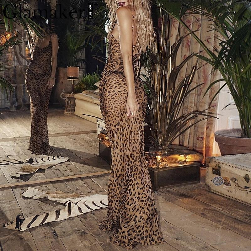 Leopard Maxi Dress dresses - Ultamodan