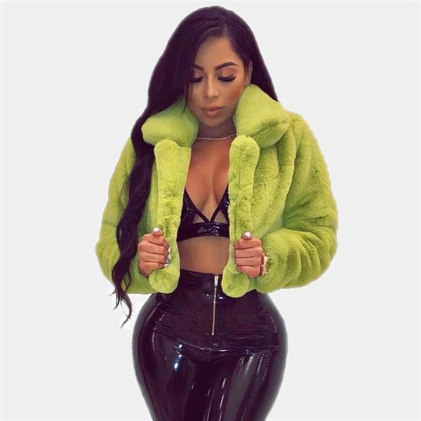 Faux Fur Crop Coat