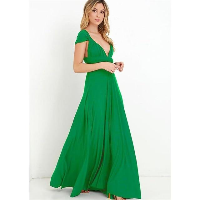Multiway Wrap Convertible Maxi Dress