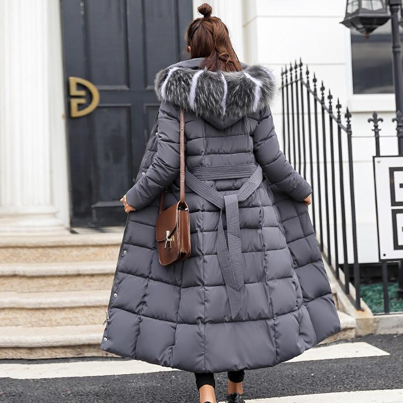 Quilted Hooded Long Coat