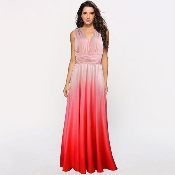 Gradient Multiway Dress - Convertible Maxi Bridesmaid Dress