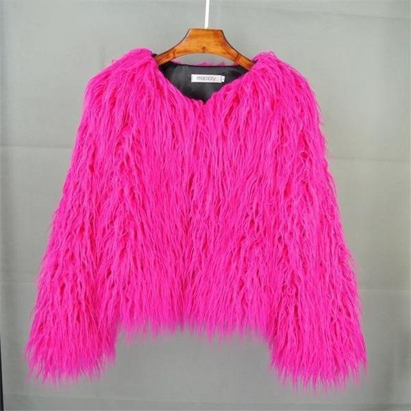 Faux Fur Jacket Shaggy